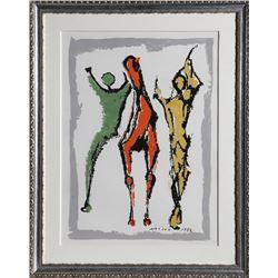 Marino Marini, Two Figures and a Horse, Silkscreen Poster
