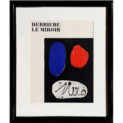 Joan Miro, Derriere le Mirroir cover, Lithograph