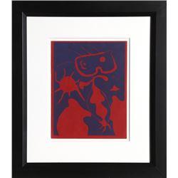 Joan Miro, Femme pour XXe Siecle (Dupin 40), Linocut