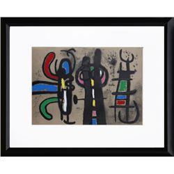 Joan Miro, Cartones 18: Personnage et Oiseau, Lithograph
