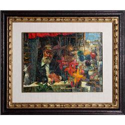 George Russin, Flea Market, Oil Painting