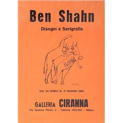 Ben Shahn, Gallery Ciranna Poster 1966, Offset Lithograph