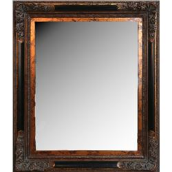 Framed Wooden Mirror, Mirror with Painted Wood Frame