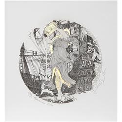 Guillaume Azoulay, Zodiacs : Aquarius, Etching