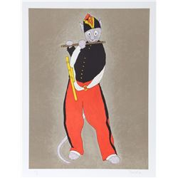 Fred Bornet, The Cat Fifer (after Manet) from the Metropolitan Cats Series, Lithograph