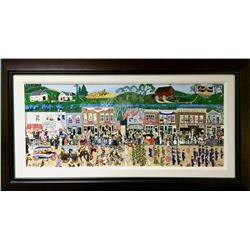 Denielle Spohn Moes, The Great Parade, Embellished Serigraph on Canvas