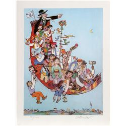 Jovan Obican, Flying Carpet, Offset Lithograph