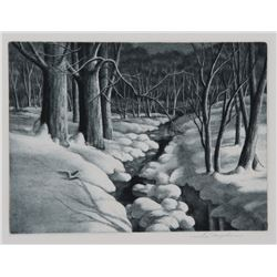 Samuel Margolies, Winter Wonderland, Etching