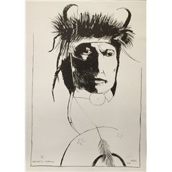 Leonard Baskin, Chief Wets It  - Assinnboine, Lithograph