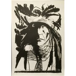 Leonard Baskin, Spies on his Enemies - Crow, Lithograph