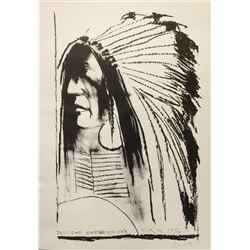 Leonard Baskin, Swift Dog - Standing Rock Sioux, Lithograph