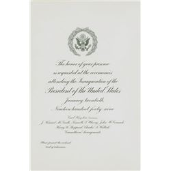 Harry S. Truman Presidential Inauguration Ceremony Program & Invitation