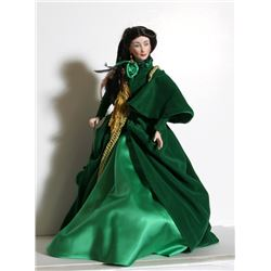 Franklin Heirloom Doll - Scarlett O'Hara in Green, Porcelain