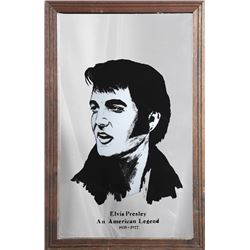 Elvis Presley: An American Legend, Print on Mirror