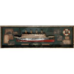 Titanic, Painted Model Ship Boat in Box