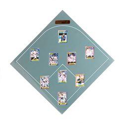 New York Yankees Baseball Diamond MLB - 9 Baseball Cards on Poster