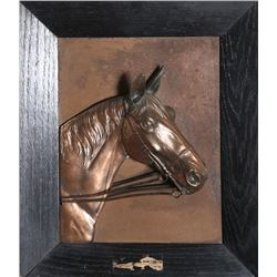 Horse Bust, Copper Relief Panel