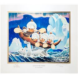 Carl Barks, Luck of the North, Gold Plate Edition Lithograph