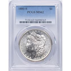 1881-S $1 Morgan Silver Dollar Coin PCGS MS62