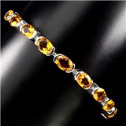 Natural 7x5mm Top Rich Yellow Citrine Bracelet