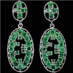 NATURAL AAA GREEN EMERALD 64 Carats Earings