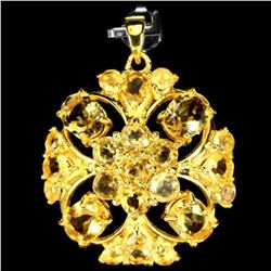 NATURAL AAA ORANGISH YELLOW CITRINE Pendant