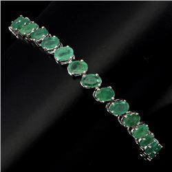 Natural 6x4mm Top Rich Green Emerald Bracelet