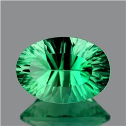 Natural ConCave Cut Emerald Green Fluorite 20x14 MM- IF