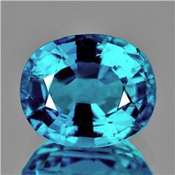 Natural AAA Electric Blue Zircon 3.07 Ct Flawless