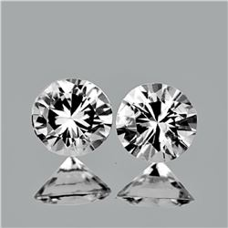 Natural White Sapphire Pair 5.00 MM - Untreated