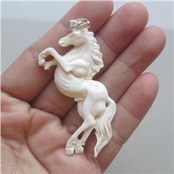 Hand Craved Horse Pendant