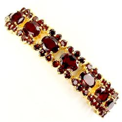 Natural Top Rich Orange Mozambique Garnet Bracelet
