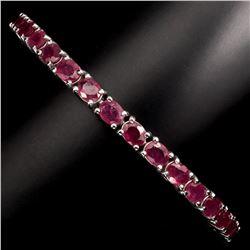 Mesmerizing Oval Cut 5x4mm Red  Ruby 81.05 Ct  Bracelet