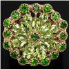 Image 1 : NATURAL GREEN CHROME & GREEN PERIDOT Ring