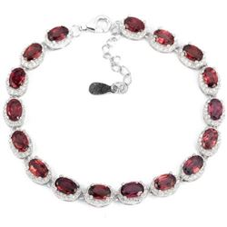 NATURAL PURPLISH PINK RHODOLITE GARNET Bracelet