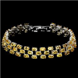 NATURAL ORANGISH YELLOW CITRINE Bracelet