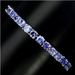 Natural 5mm Top Rich Blue Violet Tanzanite Bracelet