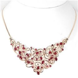 Natural GENUINE BLOOD RED RUBY Necklace