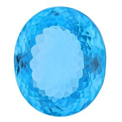Amazing 37.45 ct Swiss Blue Certified Topaz. V VS-1