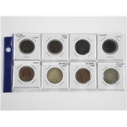 Lot of (8) World Coins. Italy, United Kingdom, Can