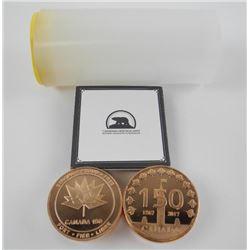 Lot (10) Solid Bronze 2017 Canada 150 Medals - SOL