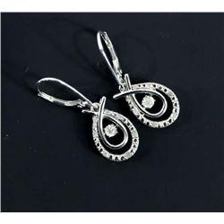 Ladies 2 Tier Drop Diamond Earrings (MXR)