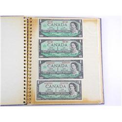 Estate Paper Money Album - Canada, US, World.