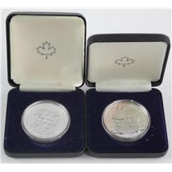 Lot (2) 925 Silver Diana & Charles Wedding coins.