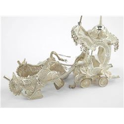 Silver Horse and Carriage.