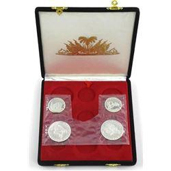 Republique D'Haiti 1973 4-Coin Silver Set.