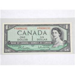 Bank of Canada 1954 $1.00 B/R High Grade Perfect C