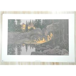 Doug Laird Litho 'Starry Night' Signed Numbered/LE