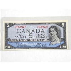 Bank of Canada 1954 $5.00 UNC Devil's Face.