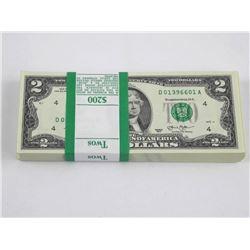 Original Treasury $2 Bundle - Sequential Serial Nu